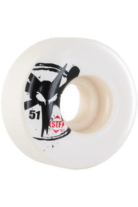 Bones STF-Skinny 51mm Wheel 4er Pack  (white)