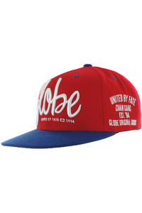 Globe Chain Gang Snapback Cap (red)