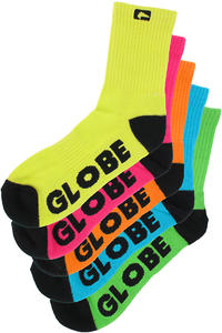 Globe Neon Socken 5er-Pack US 7-11  (assorted)
