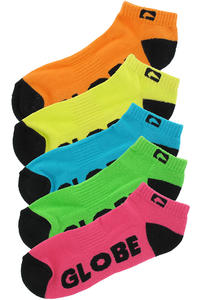 Globe Neon Ankle Socks 5er-Pack US 7-11  (assorted)
