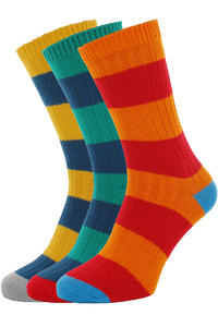 Globe Fat Stripe Boots Deluxe Socken 3er-Pack US 7-11  (assorted)