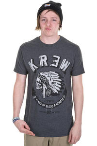 KR3W Black Feather Heather T-Shirt (charcoal)