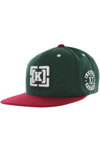 KR3W Team Bracket Snapback Cap (green)