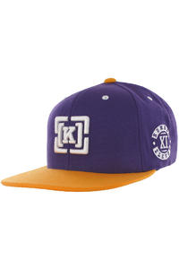 KR3W Team Bracket Snapback Cap (purple)
