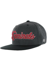 KR3W Kriminals Snapback Cap (charcoal heather)