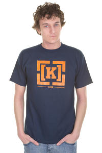 KR3W Bracket Regular T-Shirt (navy)