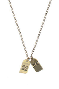 KR3W Focused Board necklace (antique)