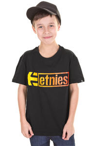 Etnies Stencil Box T-Shirt kids (black yellow)