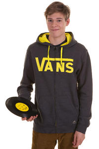 Vans Classic Zip-Hoodie (new charcoal heather blazing yel)