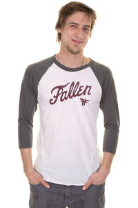 Fallen Fury Raglan 3/4 Longsleeve (white charcoal)