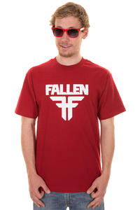 Fallen Insignia T-Shirt (blood red white)