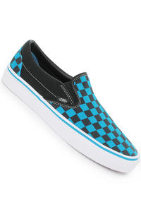Vans Classic Slip-On Schuh (checkerboard black malibu blue)