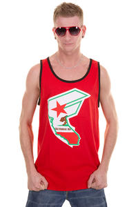 Famous CA Reppin Tank-Top (red black)