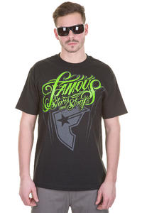 Famous No Control T-Shirt (black lime grey)