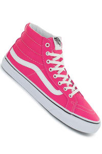 Vans Sk8-Hi Slim Leather Shoe girls (neon pink)