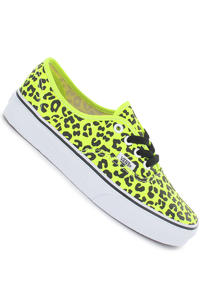 Vans Authentic Schuh girls (neon leopard yellow black)