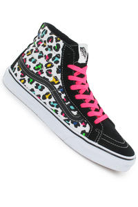Vans Sk8-Hi Slim Shoe girls (neon leopard true white)