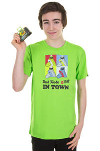 Trap Skateboards New Best Taste T-Shirt (flash green)