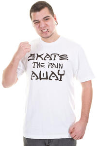 Trap Skateboards Skate The Pain Away T-Shirt (white)