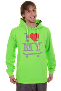 Trap Skateboards I Love My Skateboard Hoodie (flash green)