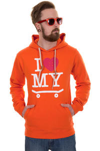 Trap Skateboards I Love My Skateboard Hoodie (orange)