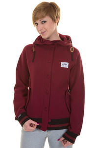 Trap Skateboards Ida Button Jacket girls (wine red)