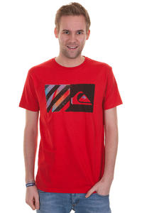 Quiksilver Striped T-Shirt (quikred)