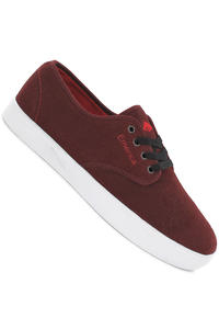Emerica Laced Suede Shoe (burgundy white)