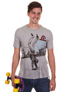 Quiksilver Tight Rope Organic T-Shirt (light grey heather)