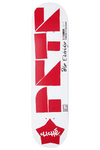 "Cliché Eldridge Laser Cut Carbonlight 7.75"" Deck (white red)"