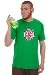Independent Red & White Cross Stencil T-Shirt (kelly green)
