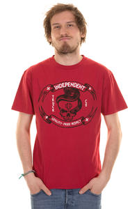 Independent LPR Skull T-Shirt (cardinal red)
