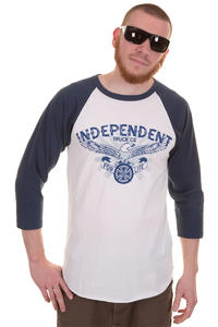 Independent Spread Baseball 3/4 Longsleeve (denim white)