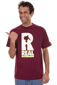 Real Huf Hydrant T-Shirt (burgundy)