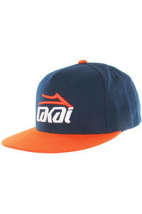 Lakai Essential Snapback Cap (navy orange)