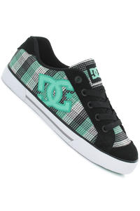 DC Chelsea Shoe girls (black green plaid)