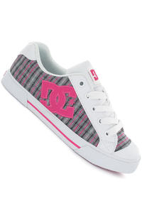 DC Chelsea Shoe girls (white crazy pink plaid)