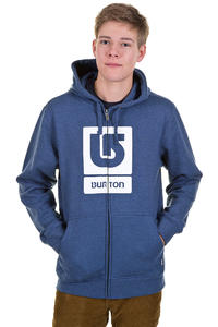 Burton Logo Vertical Zip-Hoodie (heather team blue)