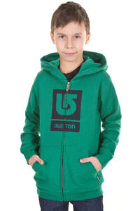 Burton Logo Vertical Zip-Hoodie kids (tidal bore)