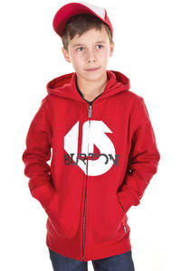 Burton Slanted Zip-Hoodie kids (cardinal)