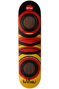 "Almost Willow Hand-Painted Impact 8"" Deck (black red yellow)"