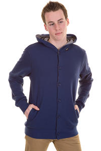 Makia Button Up Zip-Hoodie (blue)
