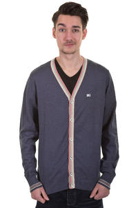 Makia Stripe Cardigan (navy melange)