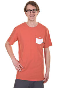 Makia Pocket T-Shirt (burnt sienna)