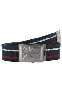 Makia Canvas Belt (navy red)