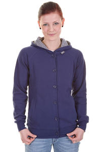 Makia Button Up Zip-Hoodie girls (blue)