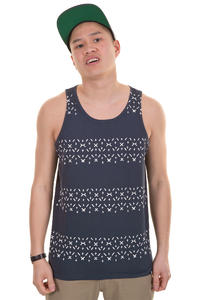 Analog Navajo Rug Stripe Tank-Top (navy blue)