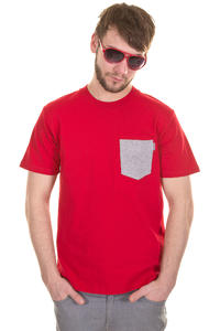 Carhartt Contrast Pocket T-Shirt (red grey heather)