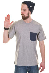 Carhartt Contrast Pocket T-Shirt (grey heather navy heather)