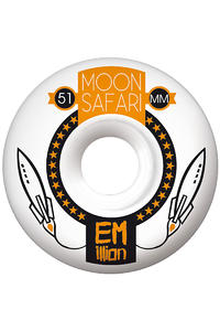 EMillion Moon Safari Logo 51mm Wheel 4er Pack  (white orange)